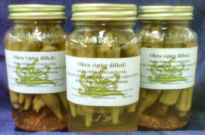 AWESOME'S SPICY DILLED OKRA