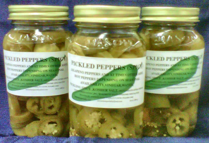 AWESOME;S SPICY PICKLED PEPPERS