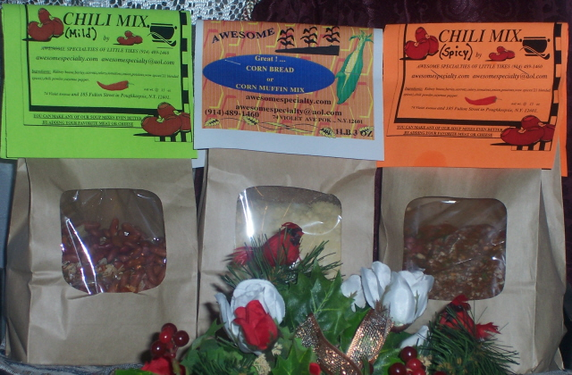 Awesome's NEW  Mild Or Spicy Chili Mix And Corn Bread Mix! ORDER NOW!